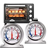 Digital Oven Thermometer - Stainless Steel Grill/Smoker Monitoring Thermometer, Easy to Read Large