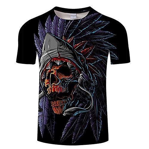 T Shirt Skull 3D T Shirt Men Tshirt Summer T-Shirt Casual Tops Short Sleeve Tees Halloween O-Neck Print Streetwear Asianxl Tx491