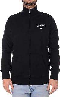 Converse Sweatshirt Fleece Jacket Core Logo Men's Open Sweatshirt Black 10020034