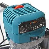 KATSU Electric Hand Holz Oberfräse Kantenfräse Set 220V 710W mit 3 Basen + 3 Spannzangen 6mm, 8mm und 10mm - 3