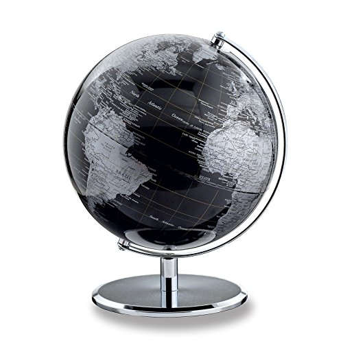 emform Tischglobus Darkchrome Planet, Aluminium & Kunststoff, 250 x 300 mm