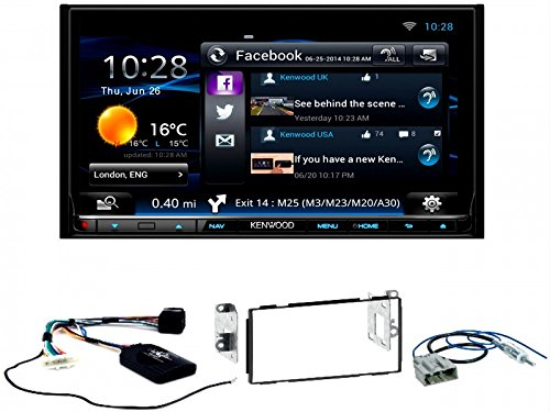 Komplett-Set Nissan Qashqai ab 2007 Kenwood DNN-9150DAB Navigation Bluetooth WMA