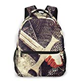 Travel Laptop Backpack Daypack Casual Backpack Templar Knight Chain Mail, Anti Theft Computer Bag, Water Resistant College School Bag for Boy Girl Women Men