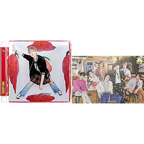 NCT Dream Hot Sauce [Jewel Case Ver.] The 1st Album (Chenle Cover Version) CD+Poster+Booklet+Lyrics Paper+Folded Poster(On Pack)+AR Photo Card+AR Clip Card+(Extra 5 Photocards)