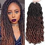Best Hair For Crochet Braids - 18 Inch Goddess Faux locs Crochet Hair 6 Review
