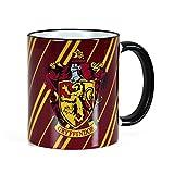 Elbenwald Harry Potter Keramik-Tasse Gryffindor Wappen und Hausfarben Rundum-Druck 300 ml rot