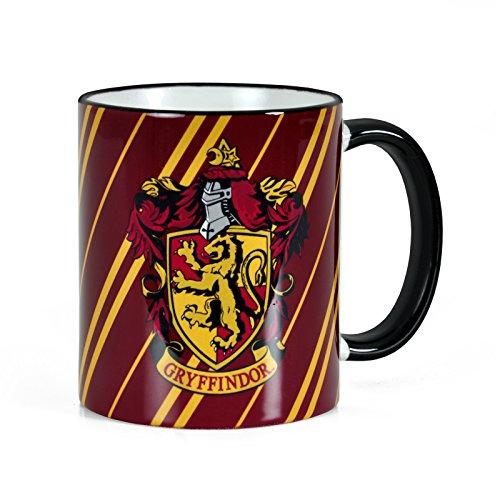 Elbenwald Harry Potter - Tazza dello Stemma della Casa di Grifondoro - capacità di 300 ml e Licenza Originale - per Veri Fan di Hogwarts