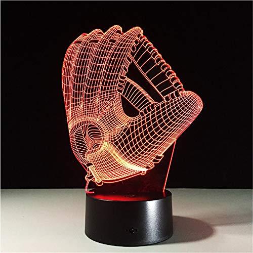 Touch Farbwechsel 3D LED Nachtlicht Stimmung Lampe Acryl Schlafzimmer Beleuchtung Dekoration Rugby Handschuh Deko Nachtlicht