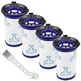 4 filtros de repuesto para aspiradora Rowenta Air Force 360 RH9037 RH9038 RH9039 RH9051WO RH9057WO RH9086WO Alternativa para ZR009001