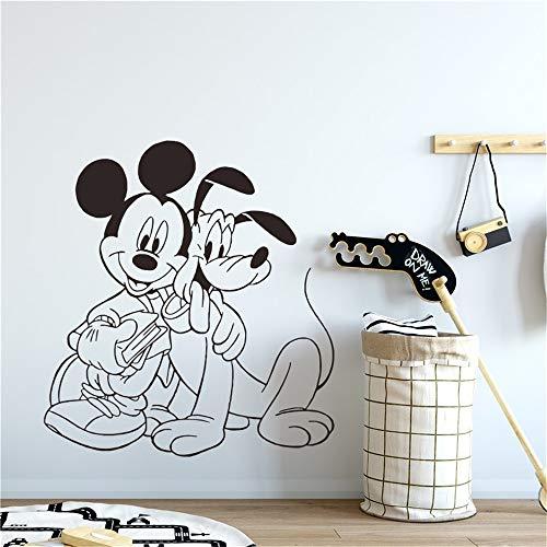 pegatina de pared pegatina de pared frases Mickey & Pluto Home Decor Wall Home Decorat para habitaciones de niños
