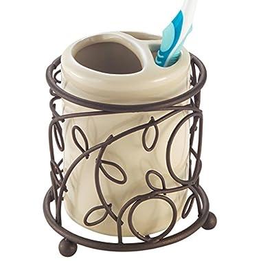 InterDesign Twigz Bath, Toothbrush Holder Stand for Bathroom Vanity Countertops