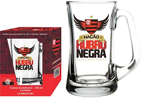 Caneca Scandinavia 355 Ml Flamengo Nação Globimport Transparente