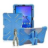 Golden Sheeps Étui universel en silicone résistant aux chocs pour tablette Dragon Touch K10/Notepad K10 10 10 pouces, LG G Pad 5 10,1' 2019, MatrixPad Z4 10 pouces, Walmart Onn 10,1' bleu