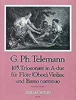TELEMANN - Trio Sonata en La Mayor (TWV:42/a 7) para 2 Violines (2 Flautas) (2 Oboes) y Piano (Michel)