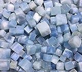 Ltong Natural Aquamarine Tumbled Stone Piedra Preciosa Azul Pulida Cristal en Bruto