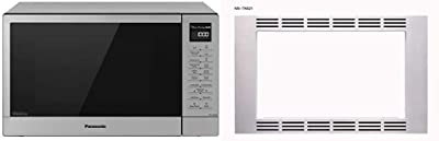 """Panasonic NN-GN68KS Countertop Microwave Oven with FlashXpress – 1.1 cu. ft, Stainless Steel/Silver & 27"""" Trim Kit 1.2cu ft Microwave Oven NN-TK621SS (Stainless Steel), 1.2cft"""