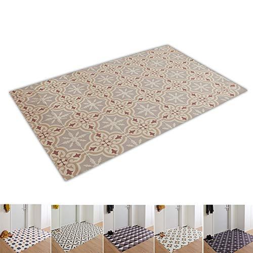 N / A Ultra Dünn PVC Fußmatte Fußabtreter Wasserdicht Einfach zu Säubern Herzlich Willkommen Matte zum Wohnzimmer, Esszimmer, Schlafzimmer, Küche, Flur, Eingang (Color : A, Size : 60x90cm)