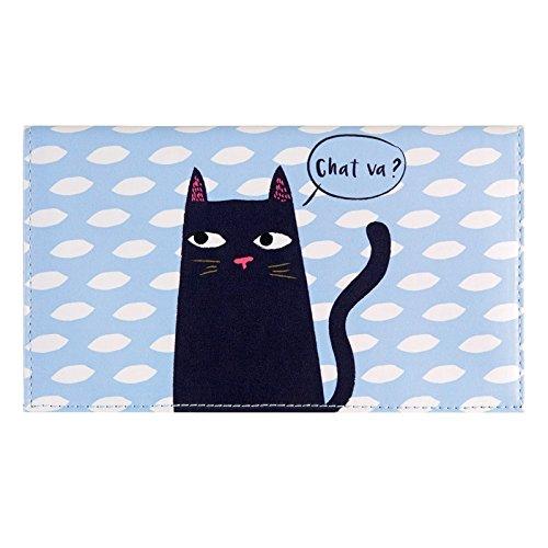 Porte-chéquier Pamela Black cat - Derrière la porte