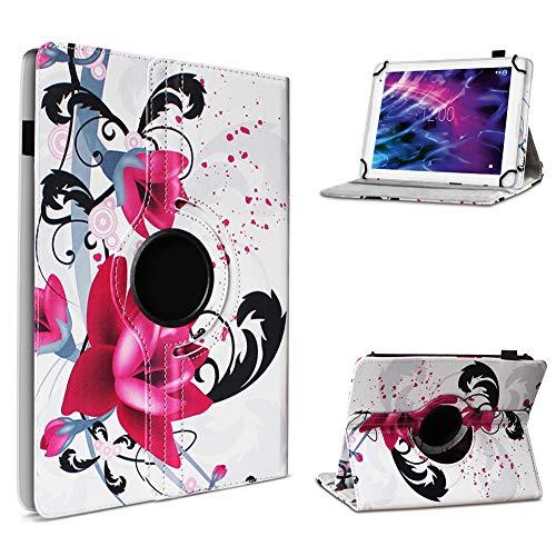 UC-Express Medion Lifetab P10610 P10606 P10602 X10605 X10607 P9702 X10302 P10400 P10506 Tablet Universal Schutzhülle Hülle Tasche Standfunktion 360° Drehbar Cover Hülle