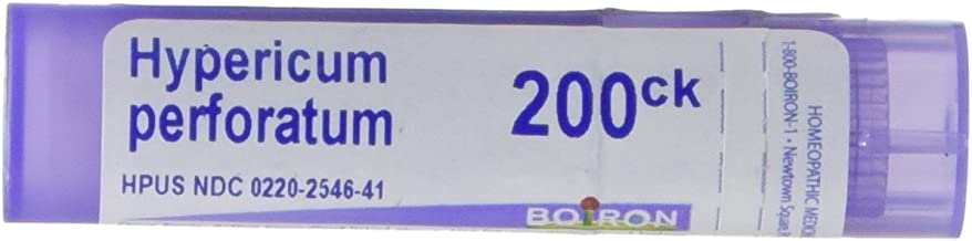Boiron Hypericum Perforatum 200CK, 80 Pellets, Homeopathic Medicine for Nerve Pain