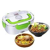 GHB Boîte Chauffante Lunch Box Chauffante Électrique 220V Boîte Alimentaires Boîte Repas en Acier Inoxydable à Pique-Nique