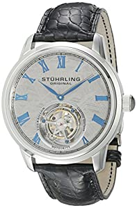 Stuhrling Original Men's 536.3315X2 Tourbillon Limited Edition Meteorite Mechanical Stainless Steel Watch image