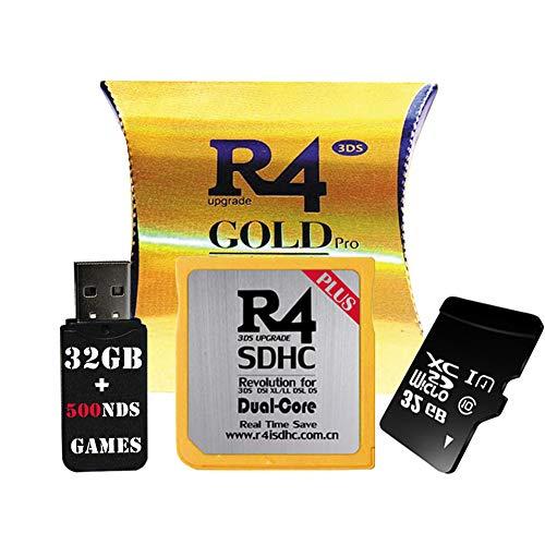 Les adaptateurs Gold Pro SDHC et USB avec 32 Go incluent les jeux DS, le noyau déjà installé, fonctionne sur DS DSI 2DS 3DS