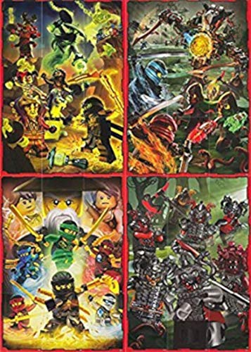 Ninjago 2 Lego (Serie 2) - Set de Tarjetas de Rompecabezas Completo 36 Cartas - Alemán Edición
