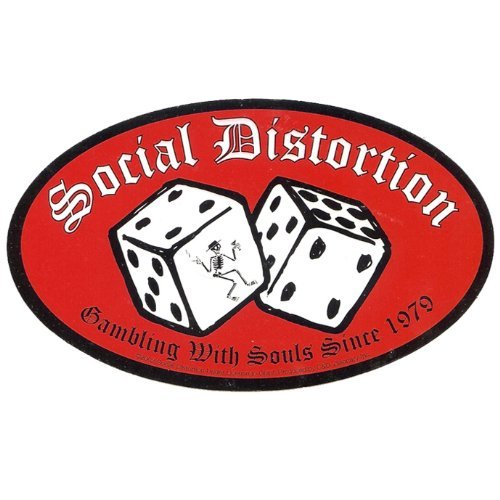 Social Distortion - Gambling with souls since 1979 - Sticker/Decal