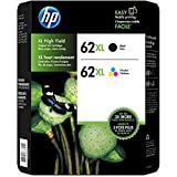 HP 62xl Black And Tri-Color Ink Cartridges