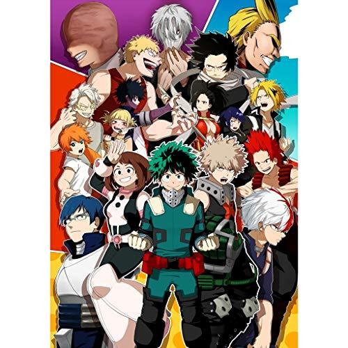Puzzle - My Hero Academia 300/500/1000/1500 Piezas Boku no Hero Academia For Adultos Regalo De Madera Manga Rompecabezas Juguete Kid Jigsaw (Color : C, Size : 300PC)