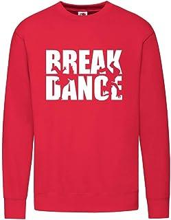 Druckerlebnis24 Sudadera – Break Dance Dance Silhouette – Sudadera unisex para niños – Niño y niña