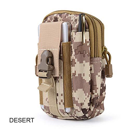Generic Brands Sac Tactique Molle Sac de Chasse Ceinture Taille Sac Militaire Tactique Sac extérieur Petit Sac à Main Iphone Sac de Camouflage