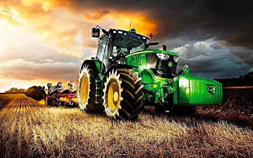 EXking Rompecabezas de Tractor Verde para niños Adultos, Grandes Pinturas intelectuales educativas, Juego de Rompecabezas, Juguetes, Regalo para el Juego, decoración de la Pared del hogar