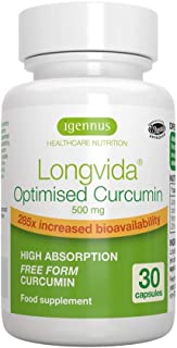Curcumina Optimizada Longvida 500 mg, alta absorción y