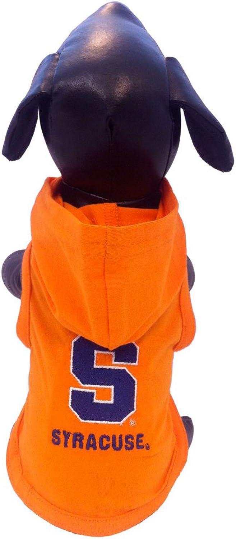 NCAA Syracuse Orange Cotton Lycra Hooded Dog Shirt