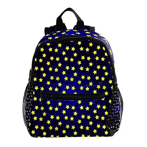 Weihnachtssterne Golden 02 Rucksack 3-8 Jahre Kids Lightweight Toddler Daypack für Vorschule Kindergarten und Reise Baby Wickeltasche 25.4x10x30CM