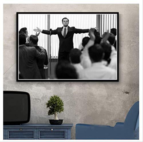 RUIYAN Leinwandbilder Hot Der Wolf Von Wall Street Leonardo Dicapri Tv Serie Gemälde Kunst Poster Und Drucke Wandbilder Für Wohnzimmer Wohnkultur Xz90T 40X60 cm Ohne Rahmen