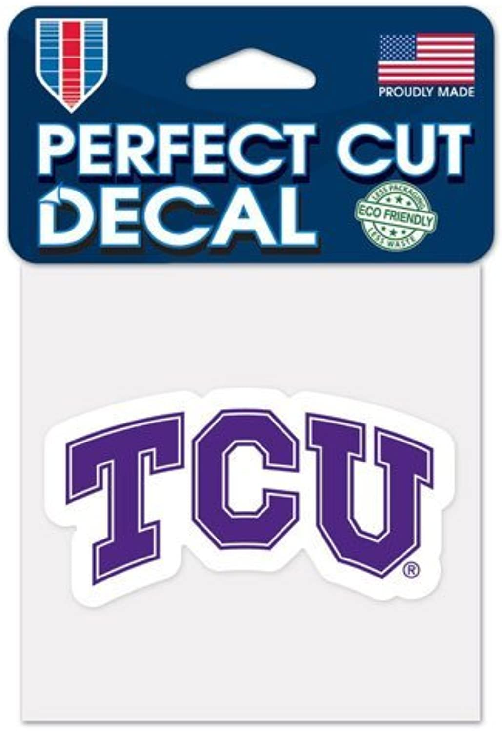 Patch Collection TCU Horned Frogs Primary Logo Perfect Cut Decals 4 x 4 (colord)