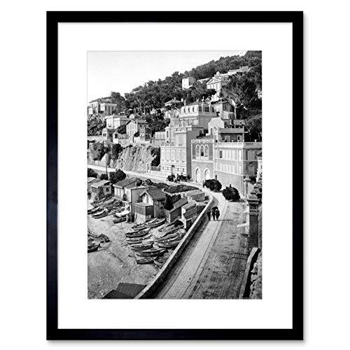 Vintage fotobehang Road Marseille Framed Print F12 x 3099
