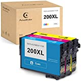 ActualColor C Remanufactured Ink Cartridge Replacement for Epson 200XL 200 XL for Expression XP-200 XP-300 XP-310 XP-400 XP-410 Workforce WF-2520 WF-2530 WF-2540 Printer(1 Cyan, 1 Magenta,1 Yellow)