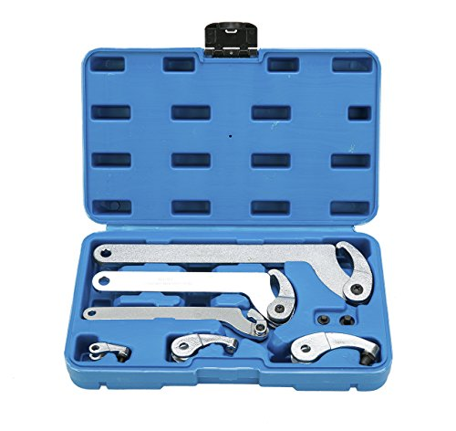 8MILELAKE Adjustable Hook and Pin Wrench/Spanner Tool Set