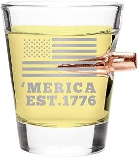.308 Real Bullet Handmade Shot Glass – 'Merica EST. 1776