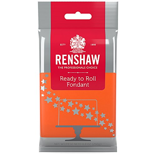Ready to Roll Fondant Icing Orange 8.8 Ounces by Renshaw