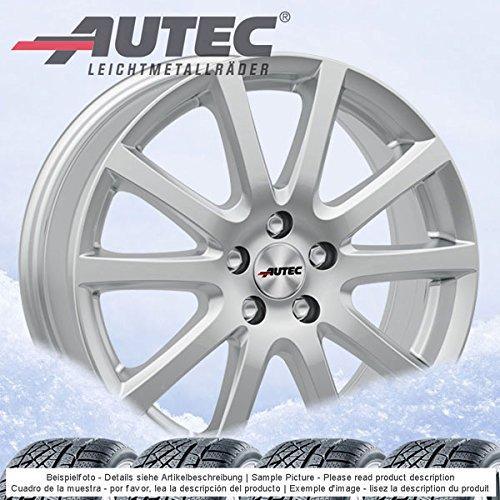 4 Winterräder Autec Skandic ECE 6.5Jx16 ET46 5x112 silber mit 205/55 R16 91H Semperit Speed-Grip 2 für VW Golf VII Golf Sportsvan