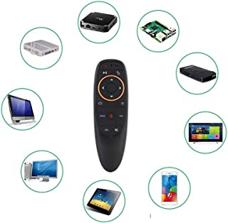 Voice Air Mouse Remote Control, Multifunction 2.4G Wireless Fly Keyboard with USB Receiver for TV Box PC