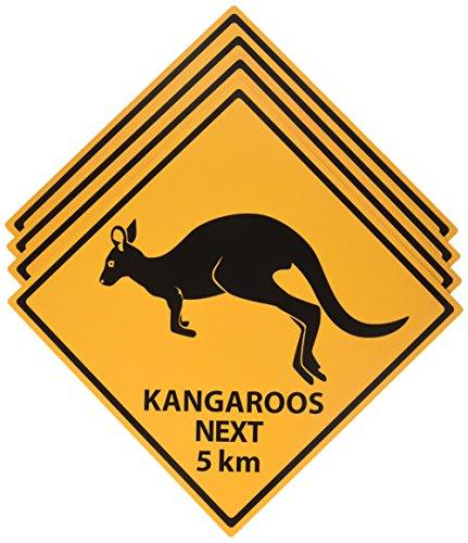 Outback Rock Wochenende Critter Crossing Zeichen Ausschnitte 4pk