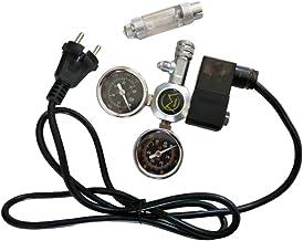 D DOLITY Medidor de Regulador CO2 De Doble Calibre de Aleación Aluminio con Co2 Bubble