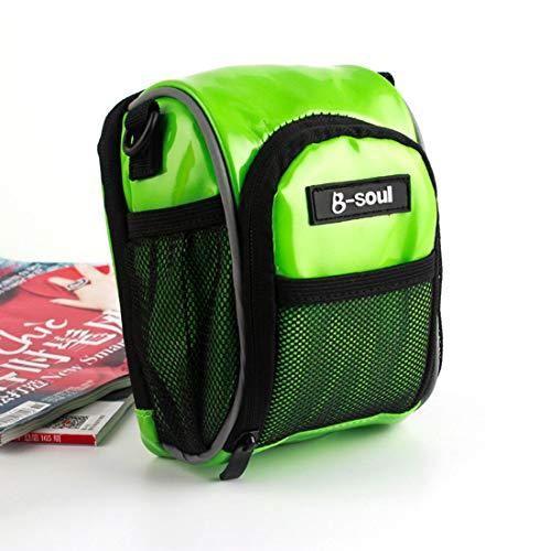 YABAISHI Bolsa de sillín para bicicleta de montaña, resistente a la lluvia, accesorios para bicicleta de carretera, bolsa de asiento trasero (color: verde)