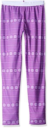 Hot Chillys Youth Pepper Skins Print Bottom, Alpine Stripe/April, Large